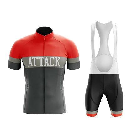 attack cycling kit red