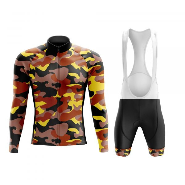 autumn camouflage army cycling set long sleeve