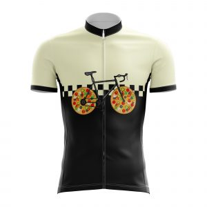 pizza bicycle cycling jersey