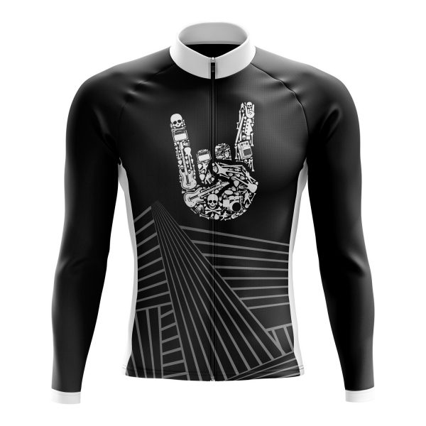 rock on long sleeve cycling jersey