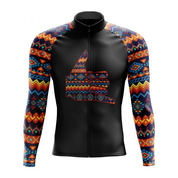 party tribal long sleeve cycling jersey