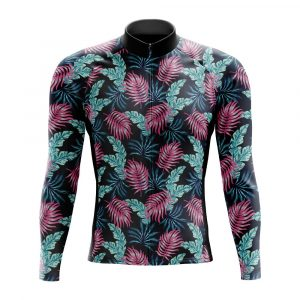 floral long sleeve cycling jersey